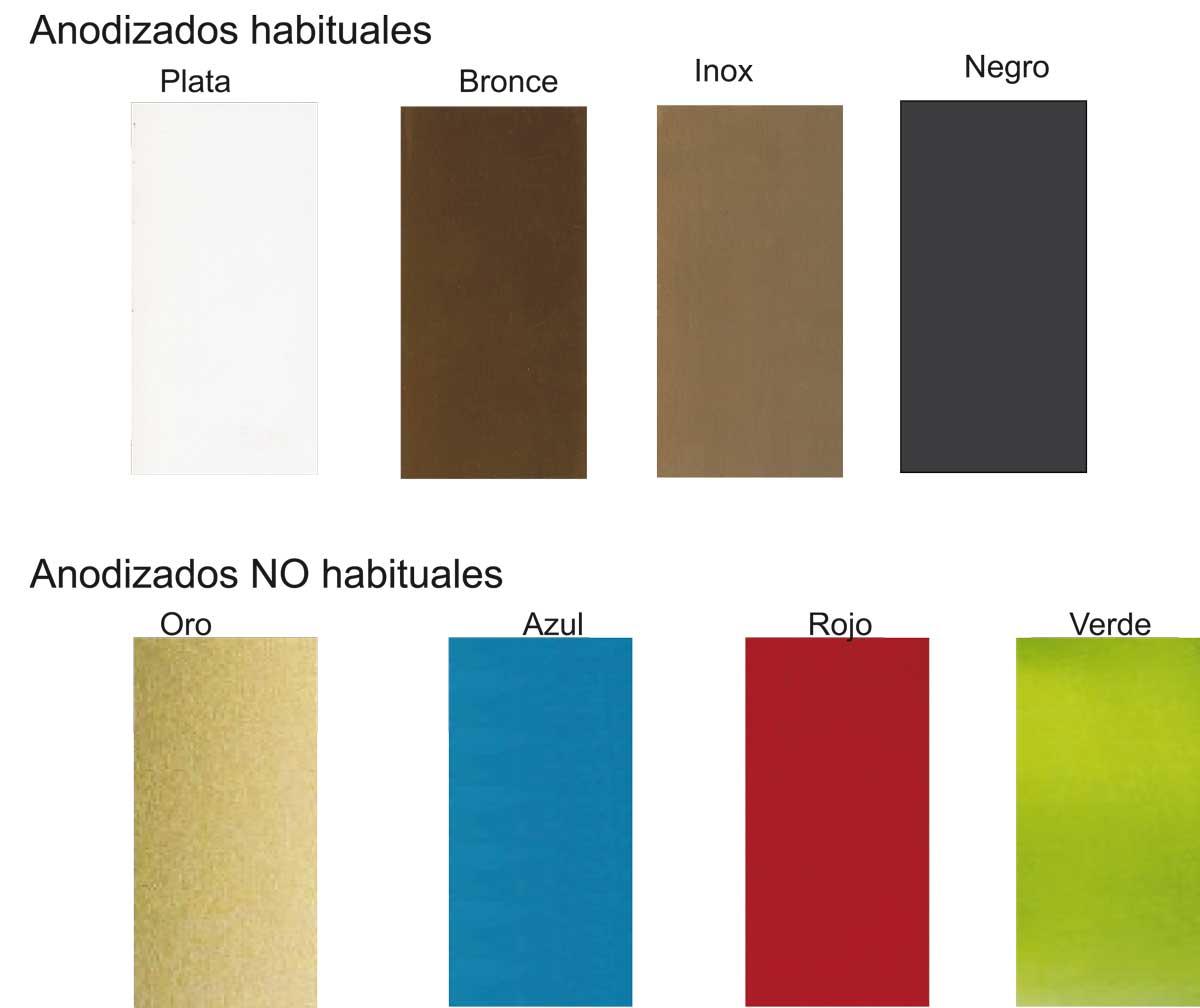 Colores de las puertas y ventanas de aluminio incerco for Colores de perfiles de aluminio