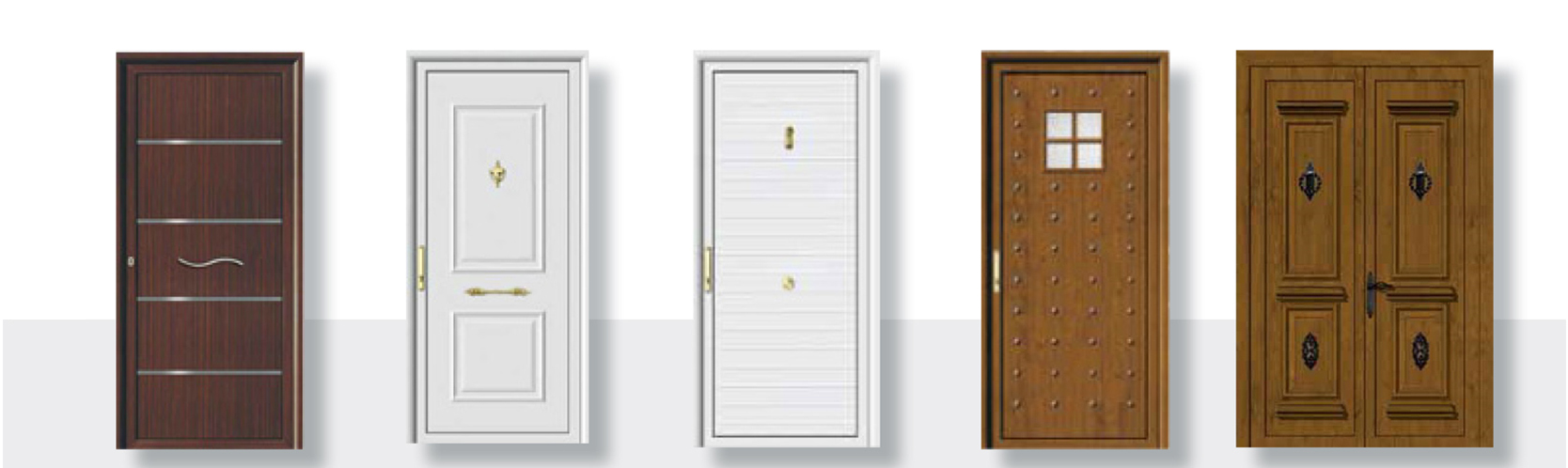 Puertas con acristalados o con panel