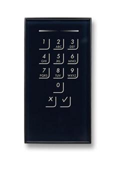 Apertura de la puerta mediante código en teclado numérico