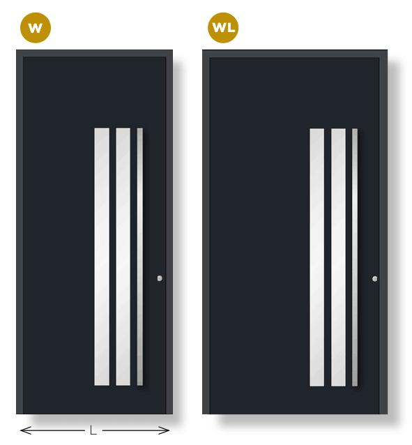 Dos anchos diferentes: W y WL