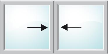 Esquema del sistema de apertura corredera en línea